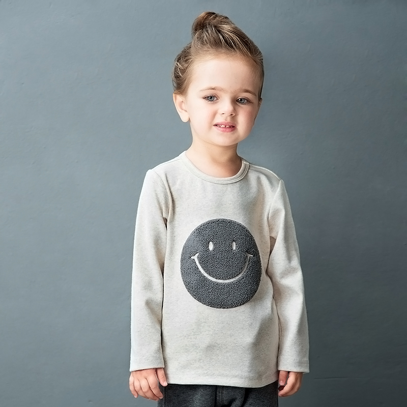 2017-New-Hot-Sale-Full-O-neck-Character-Regular-Yingzifang-Unisex-Casual-Sleeves-Cotton-Smile-Face-Tees-Kids-T-shirts-4