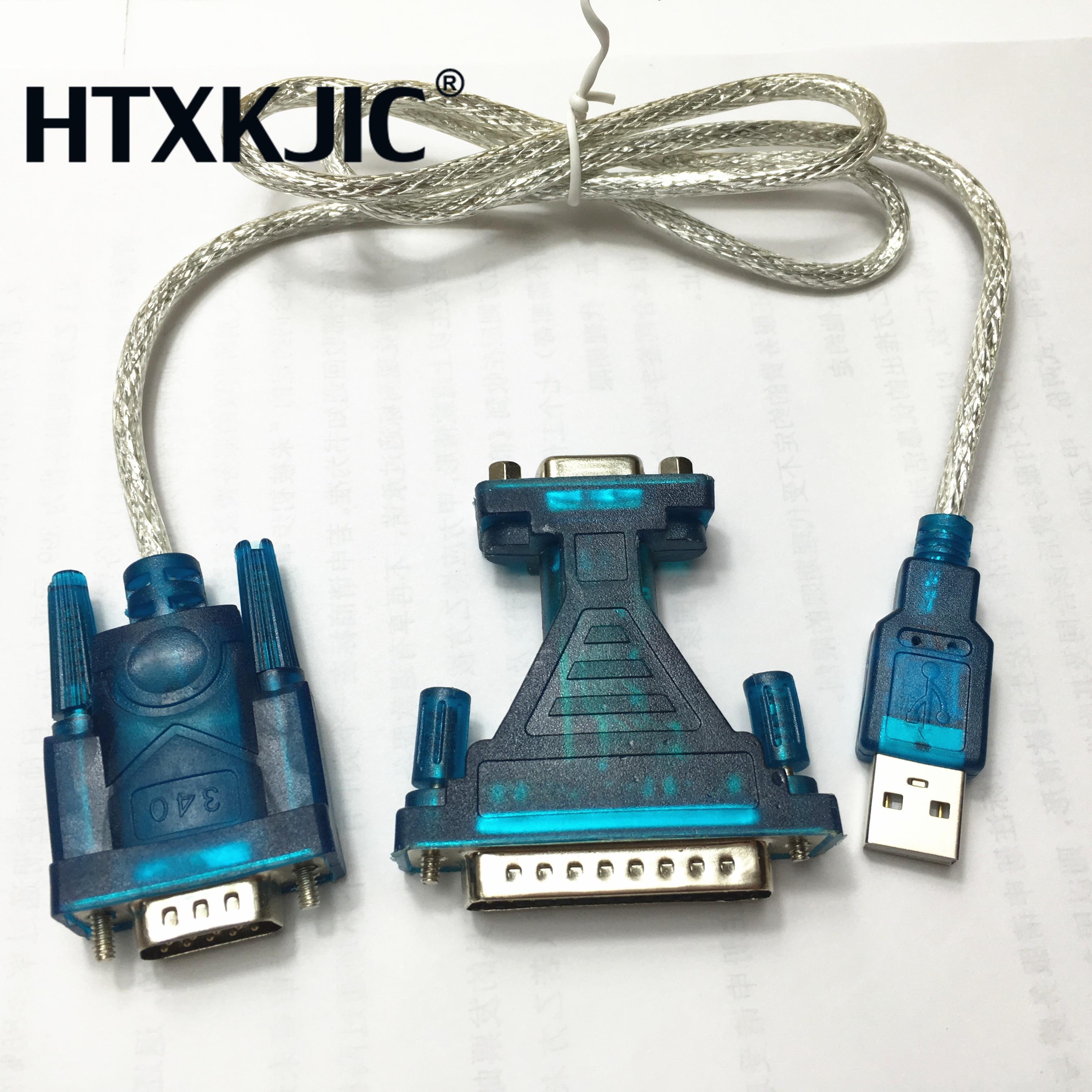 Novo usb 2.0 para rs232 com porta 9 pinos serial db25 db9 adaptador cabo conversor