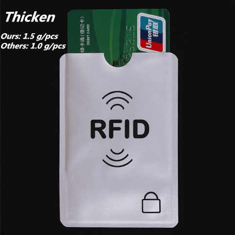 Thicken Anti Rfid Blocking Reader Lock Bank Card Holder ID Bank Card Case Rfid Protection Metal Credit Card Holder Aluminium