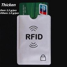 Утолщаются Анти Rfid Блокировка Reader замок банк держатель для карт ID банковской карты случае защитой Rfid металла кредитной держатель для карт алюминия