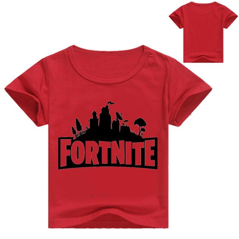 Летние хлопковые футболки Fortnite Легенда игровой узор топы для маленьких мальчиков и девочек Повседневная футболка детская одежда От 3 до 16 л...