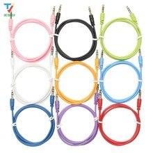 100 pcs/lot Schleifen Audio Kabel Stecker auf stecker farbe Auto Audio 3 5mm Klinke Stecker Männlichen Zu männlichen AUX Kabel Für Kopfhörer MP3 großhandel