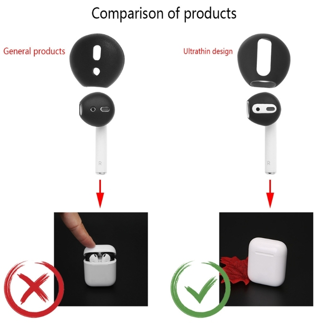 2 Pairs Ultra-thin Silicone Eartips For Apple Airpods 4