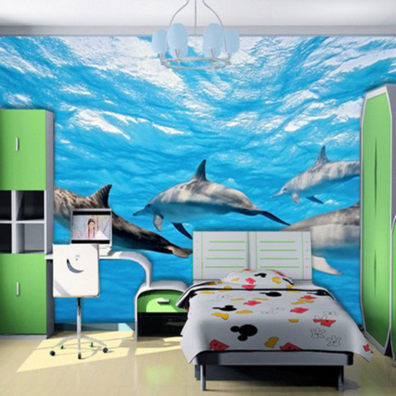 3D Photo Wall Murals Blue Sea Whales for Home Decoration TV Background Wall for living room 3d Stereo Wall papers for kids room newest 3d cartoon wall murals 3d kids wallpaper 3d wall photo murals for baby kids room 3d wall murals home decor