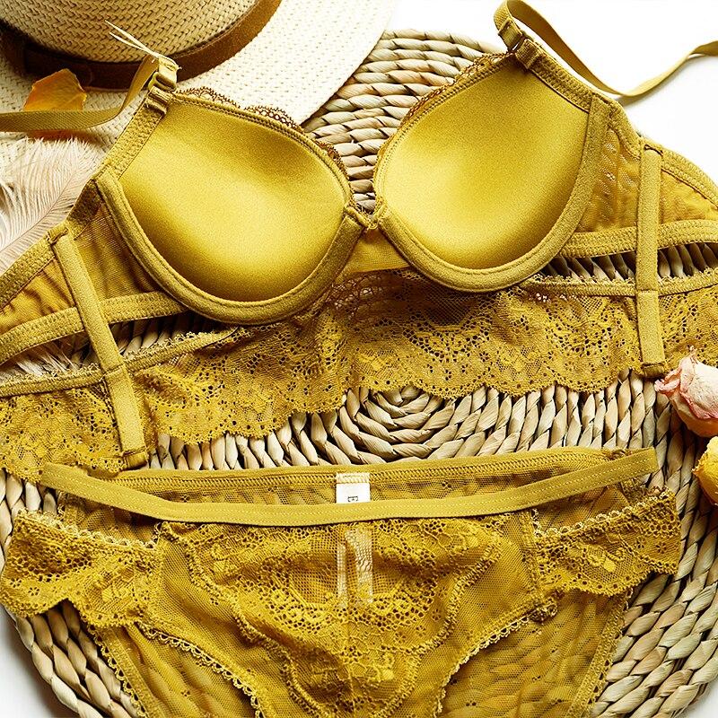 2019 New adjustable Brassiere Thin Black Push Up Bra Set Embroidery Bras Lace Women Lingerie Sets Gather Sexy Underwear Set Women Women's Clothings Women's Lingeries cb5feb1b7314637725a2e7: black|Pink|Red|YELLOW