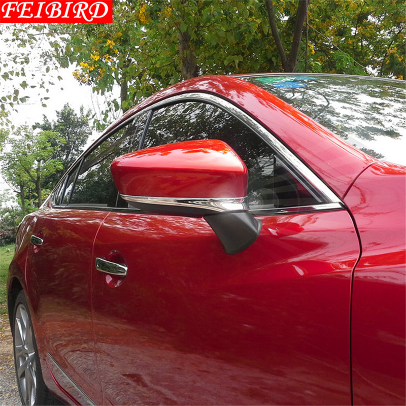 ABS Chrome Side Rearview Mirrors Cover Trim 1 pair Exterior For <font><b>Mazda</b></font> <font><b>6</b></font> Sedan & <font><b>Wagon</b></font> 2013 2014 2015 image