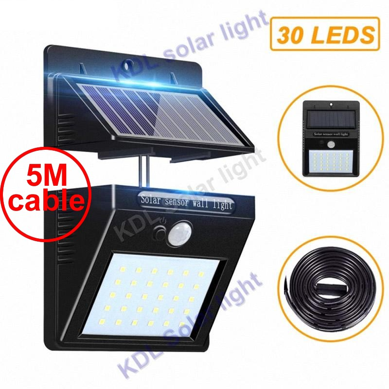 30 led 500lm solar light split mount pIR motion 3 senser  ip65 indoor outdoor lamp intelligent ne 5M cable street wall lamp for30 led 500lm solar light split mount pIR motion 3 senser  ip65 indoor outdoor lamp intelligent ne 5M cable street wall lamp for