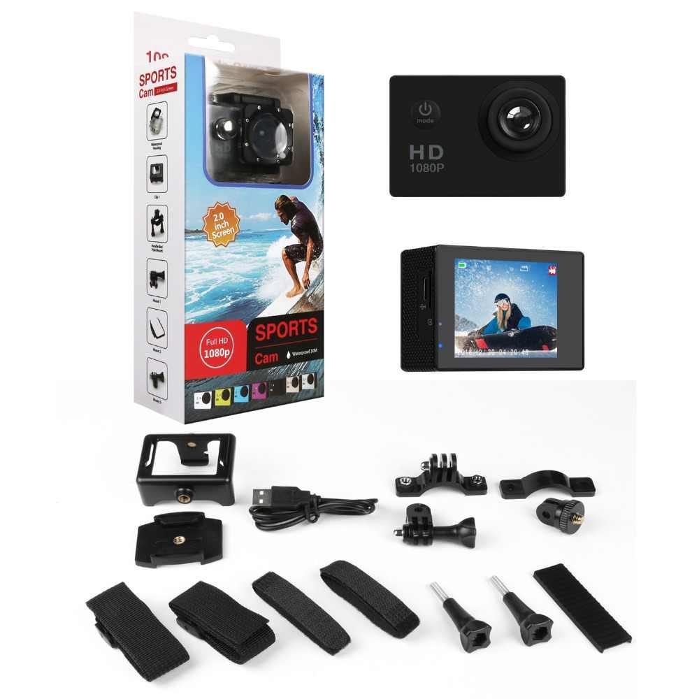 JCKEL Экшн-камера велосипедный мотоциклетный шлем камера подводный дайвинг водостойкий HD голова велосипедная камера 1080 p мини-видеокамера