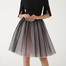 Quality 5 Layers Fashion Tulle Skirt Pleated TUTU Skirts Womens Lolita Petticoat Bridesmaids Midi Skirt Jupe Saias faldas