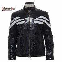Cosplaydiy Avengers: Age of Ultron Captain America Jacket Adult Men Halloween Carnival Cosplay Costume Custom Made J5