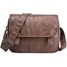 Neue Luxus Marke Umhängetasche Männer Leder Umhängetaschen Für Männer Business Büro Seite Tasche Casual Arbeit Schulter Tasche Männlichen handtasche