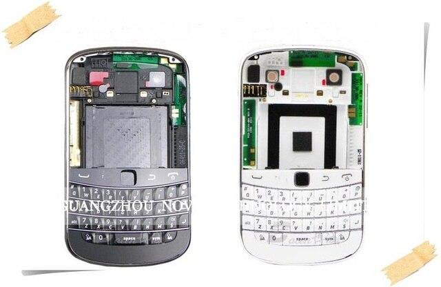 Первоначально Новая Для blackberry bold 9900 Корпус Полный Обложка Чехол Полный + Клавиатура Гибкий Черный/Белый; Бесплатная Доставка