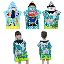Baby Hooded Poncho kids bath towel/Animal Modeling Swimming bathrobe/Cartoon Children's Beach Towel все цены