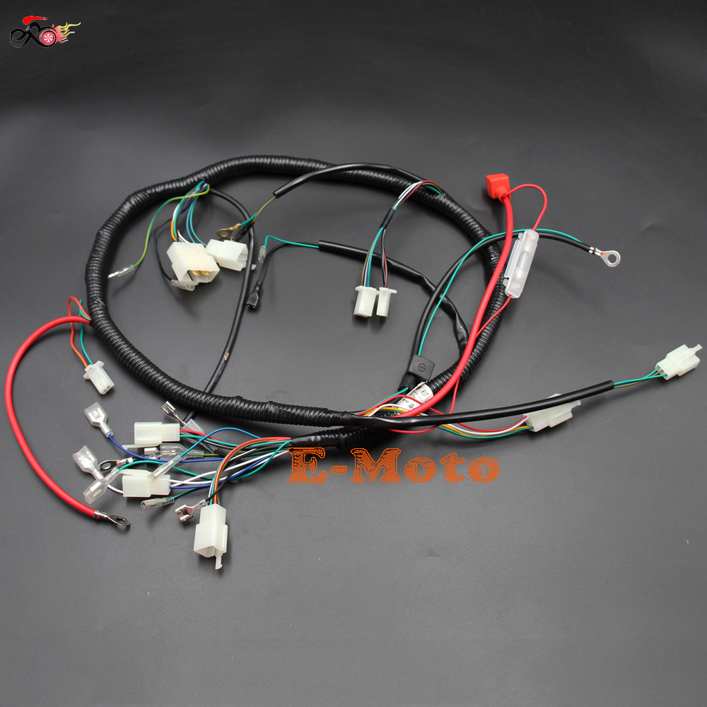 hight resolution of engine wiring harness wiring loom 150cc 200cc 250cc pit quad dirt bike offroad atv buggy zongshen