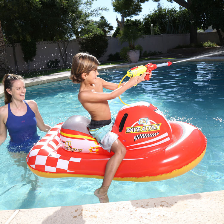 Gun motorcycle inflable Swimming animal modeling Seat inflatable boat Float Boat Water Sports children mounts  Kids Toy  children animal pool floats inflatable animal floating kids toys swimming boat air mattress beach bed water boat 12 animals