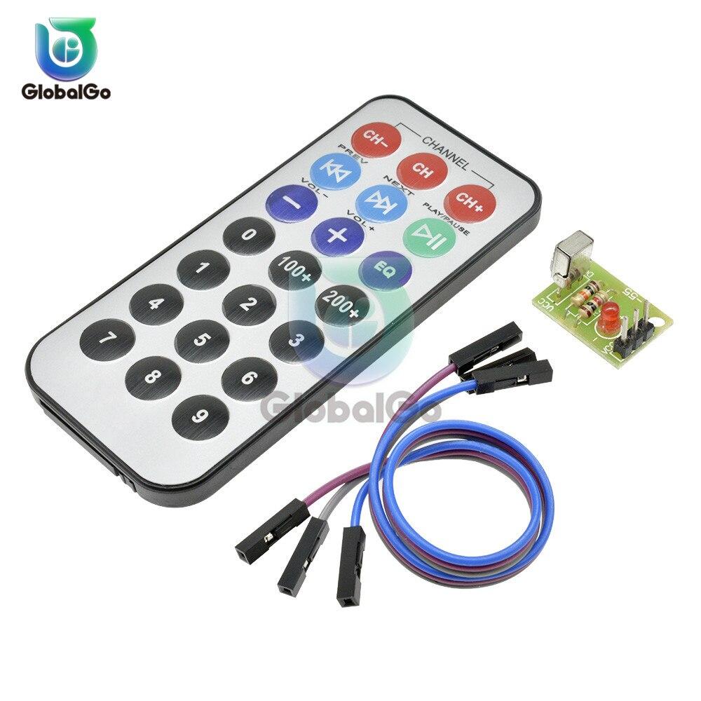 HX1838 Módulo Interruptor Do Sensor Infravermelho IR Controle Remoto Sem Fio + 3Pin 20 cm Cabo Dupont para Arduino para Raspberry Pi placa