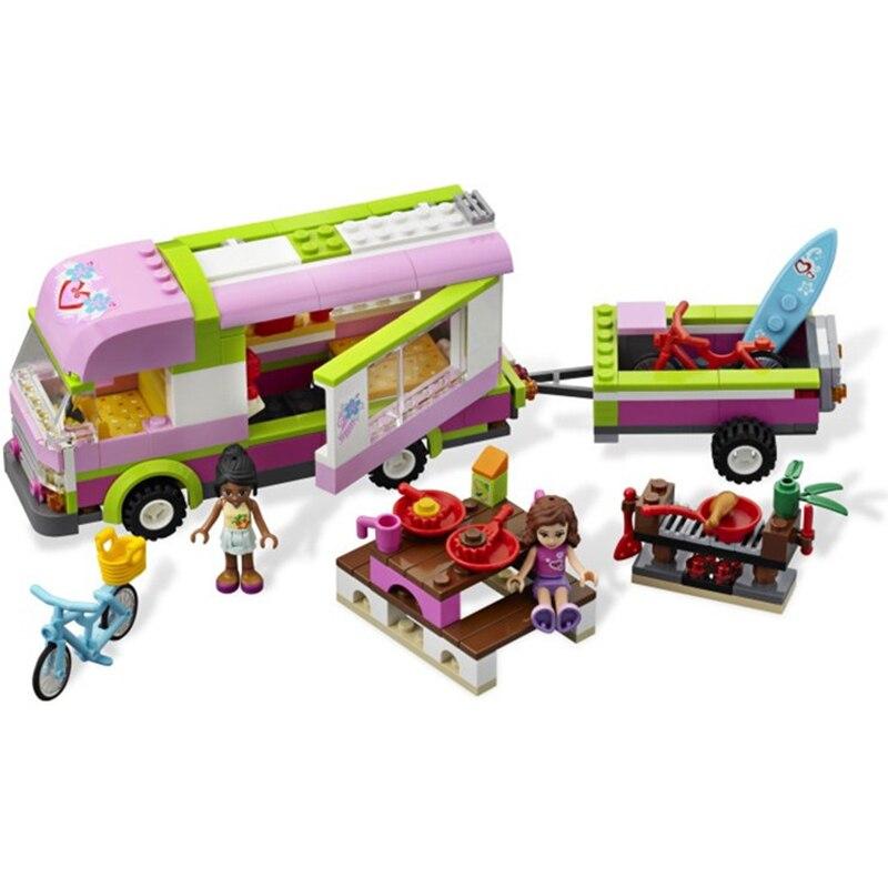 цена на BELA 314pcs 10168 Girl Friends Adventure Camper Building Blocks Model Figure Educational Toys For Children Compatible with Legoe