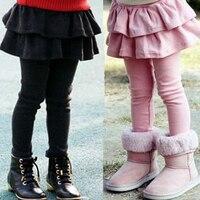 Free Shipping Retail Girl Legging Girls Skirt Pants Cake Skirt Kids Leggings Baby Girl Pants Winter