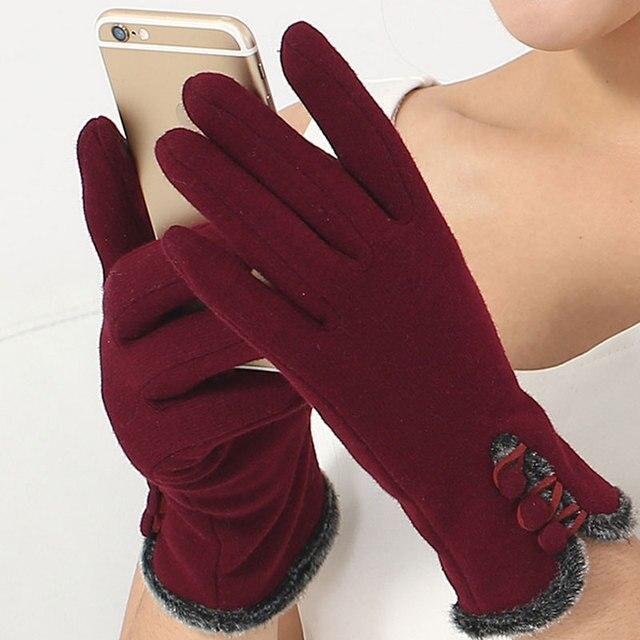 Moda guantes mujer invierno guantes pantalla femenina muñeca guantes para  las mujeres thick warmer luva inverno 7ee8216622e