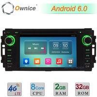 Android 6.0 Octa Rdzeń 4G 2 GB RAM 32 GB ROM DAB Samochodów Odtwarzacz Multimedialny DVD Radio Dla Jeep Commander Compass Grand Cherokee Wrangler