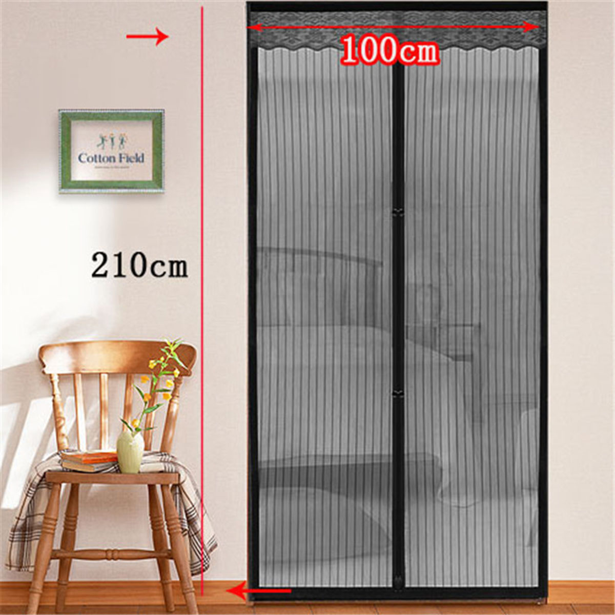 Online buy wholesale magnetic screen door from china magnetic window screen mesh anti mosquito net pest control gauze curtain door window screens room curtains home vtopaller Image collections