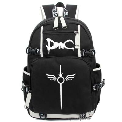 Anime Devil May Cry 5 Backpack Cosplay Canvas Bag European American Luminous Schoolbag Travel Bags