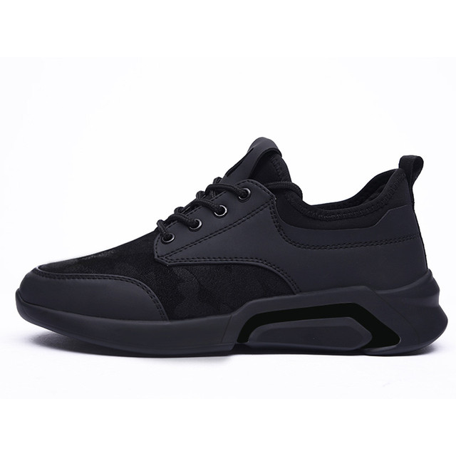 Perimedes Black Lace-Up Men's Sneakers Casual 5