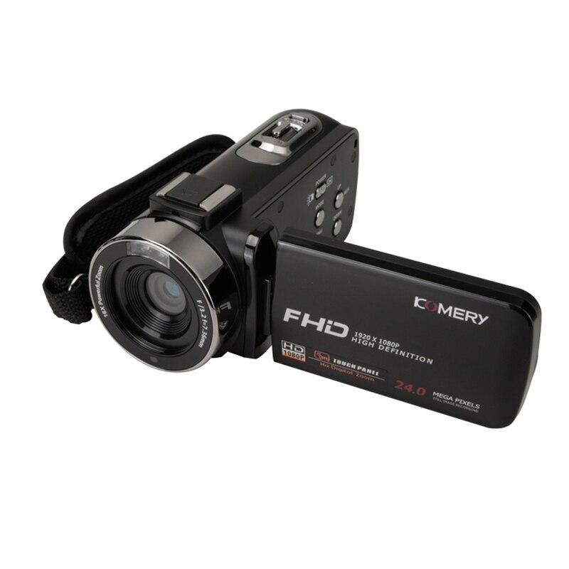 KOMERY nouveautés caméra vidéo caméscope 3.0 pouces IPS HD écran tactile réel 1080 P prise en charge télécommande caméra d'origine - 3