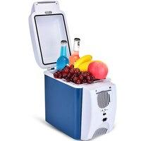 7.5L мини холодильник АВТО ХОЛОДИЛЬНИК раскладушка морозильник быстрого охлаждения автомобиля охладитель бытовой нагреватель Портативный