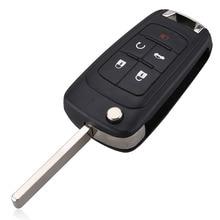 New 5 Buttons Folding Flip Remote Car Key Fob Case Shell for Buick Lacrosse Chevrolet Camaro Cruze Equinox Impala GMC Terrain