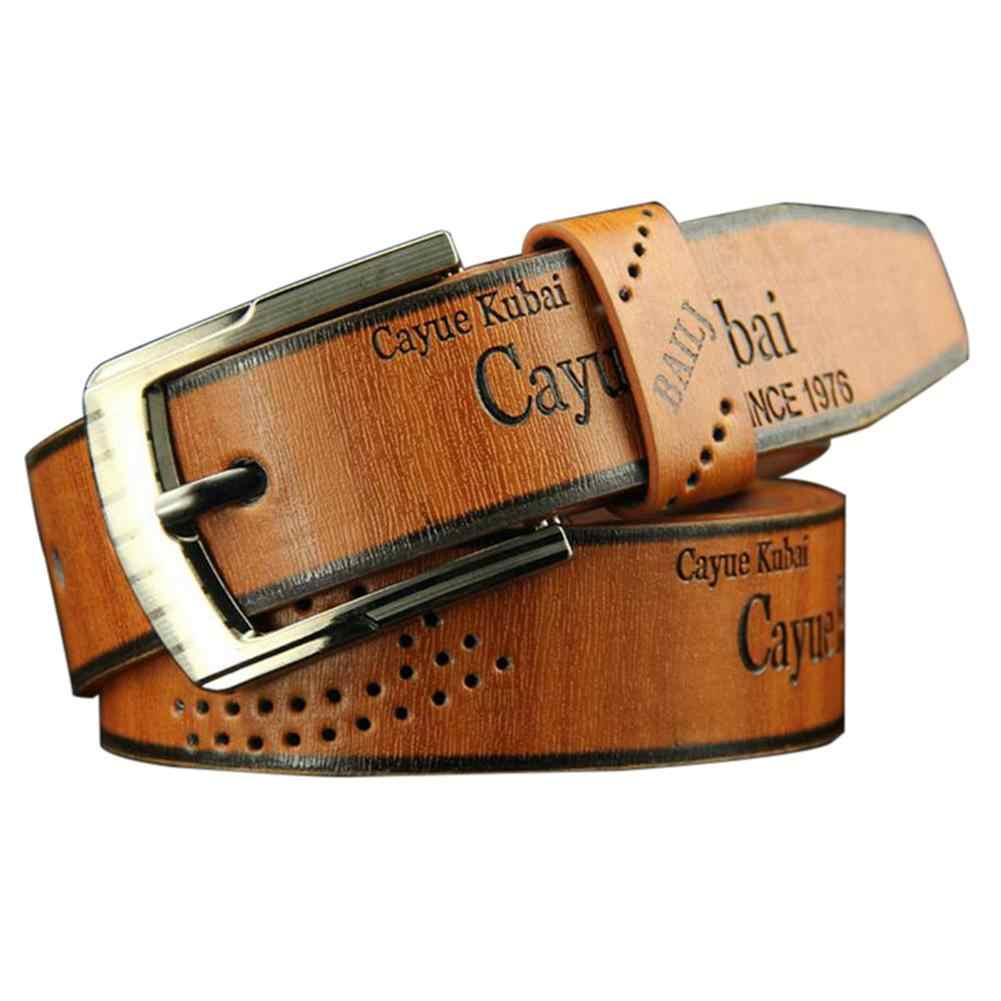 Hot Men's Fashion Casual Faux Leather Hollow Waistband Waist Belt Business Gift