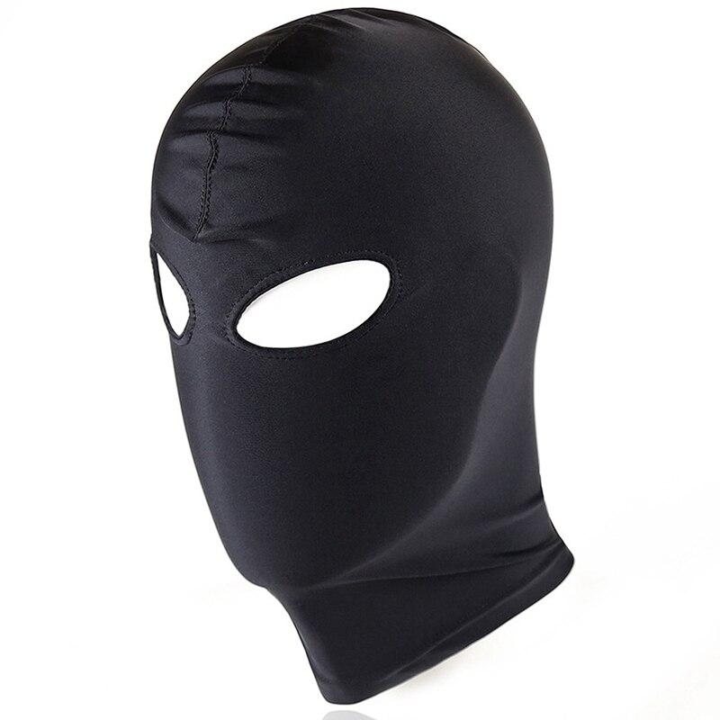 Голова Кожа жгут полиуретановая маска капюшон рот Даг БДСМ костюм фетиш бондаж регулируемый - Цвет: PG0165