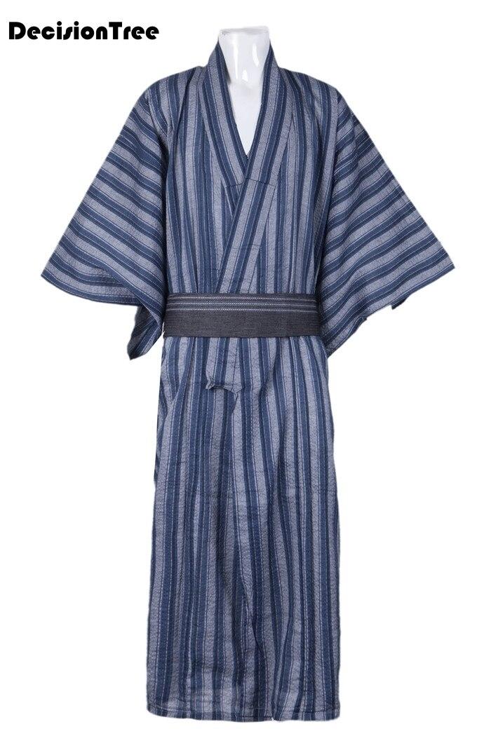 2019 dos homens de roupas de verão preto clássico japonês samurai guerreiro kimono sem obi yukata haori tradicionais traje de halloween