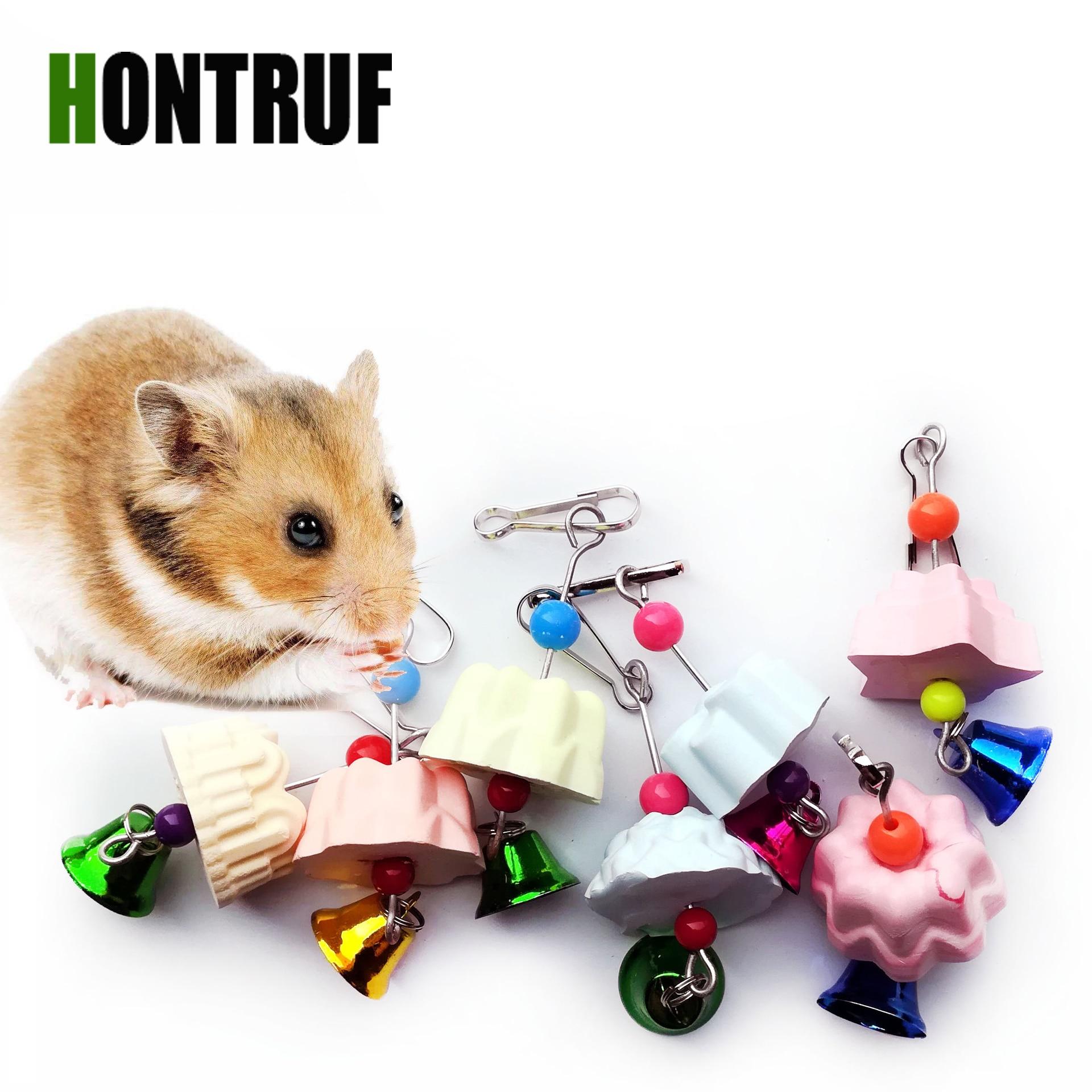 Petites fournitures pour animaux domestiques | Hamster Totoro écureuil chaîne Molar perroquet pierre de meulage, morsures de lait au Calcium, jouet à mâcher, jouet perroquet oiseau