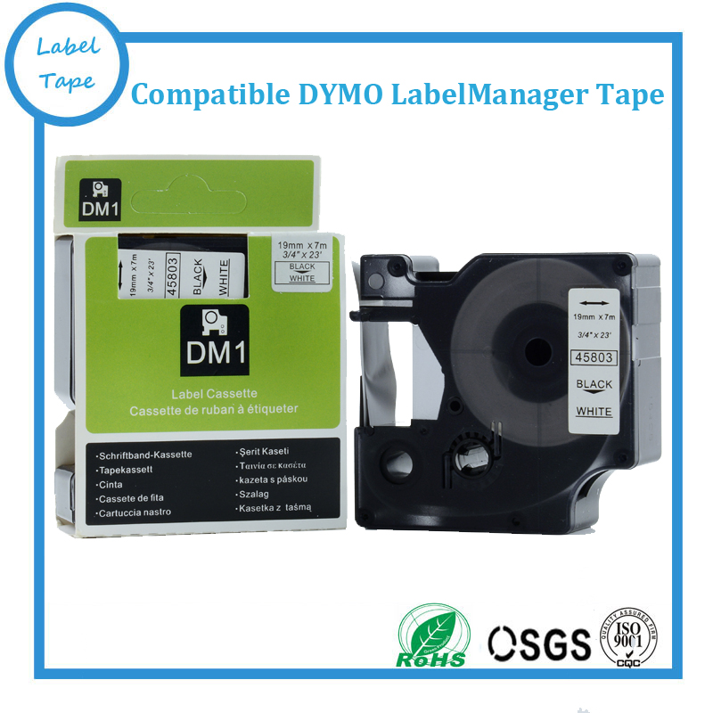 Free shipping DYMO D1 tapes 19mm black on white 45803 used for DYMO labelmanager labeller