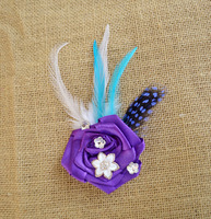 Ślub kwiat kwiat corsages oczyszczenie purpurowa róża