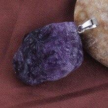 Крафт-бусины покрытый серебром натуральный темно-фиолетовый кристаллы аметиста неправильной формы Соединитель Кулон Ювелирные изделия