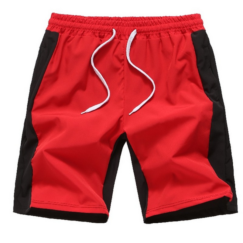 Summer Men's Casual Sports Shorts Color Matching Quick-Drying Short Pants Loose Oversized Breeches M-3xl
