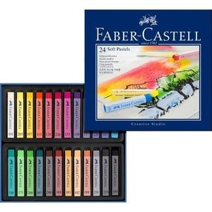 Image 4 - Faber Castell Pastel Stick 12/24/36/48/72 Colors Dyed Chalk Wax Colors Blue Box Oil Pastel Crayon Soft Pastel Blando For Art