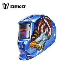 DEKOPRO Águila Solar oscurecimiento automático MIG MMA máscara de soldadura eléctrica/casco/lente de soldadura para la máquina de soldadura O plasma cortador
