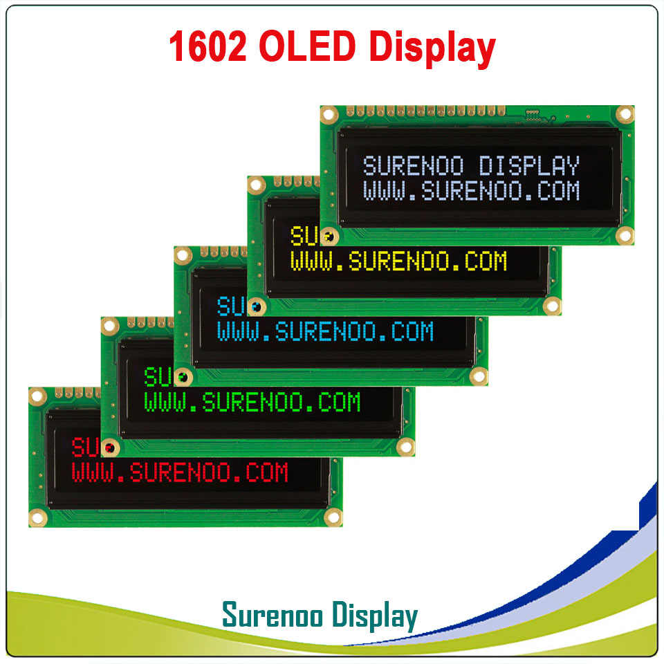 Real OLED Display, 1602 162 Character Parallel LCD Module Display LCM Screen, Build-in WS0010, Support Serial SPI