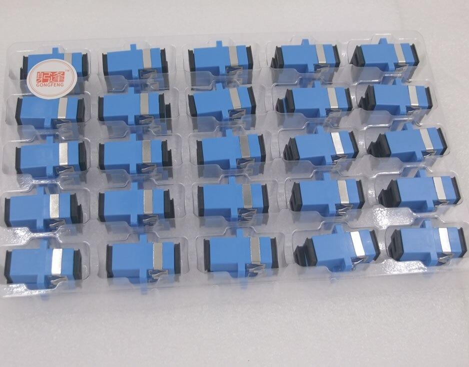 400pcs New Fiber Optic Connector Adapter SC UPC SM Flange Singlemode Simplex SC SC Coupler Special