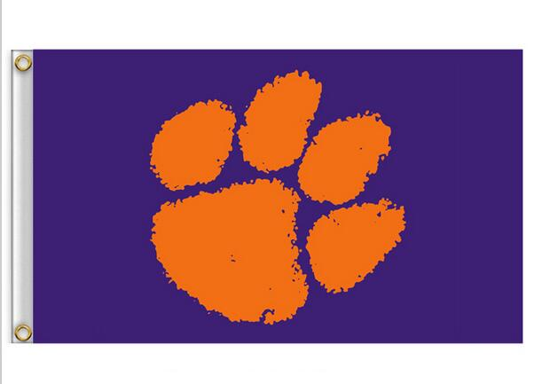 Clemson Tigers Flag 3ft x 5ft Polyester NCAA Clemson Tigers Banner Flying  Size No.4 150* 90cm Custom flag