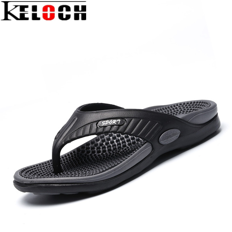 Keloch 2017 Men s Sandals Casual Summer Slippers Shoes Men Lesiure Soft Massage Sandals Beach Flip