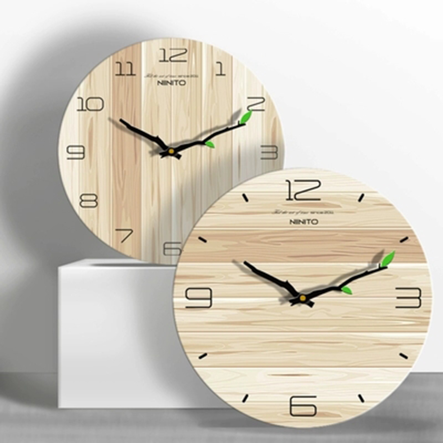 Large Wooden Wall Clock Dcor Farmhouse Modern Design ...