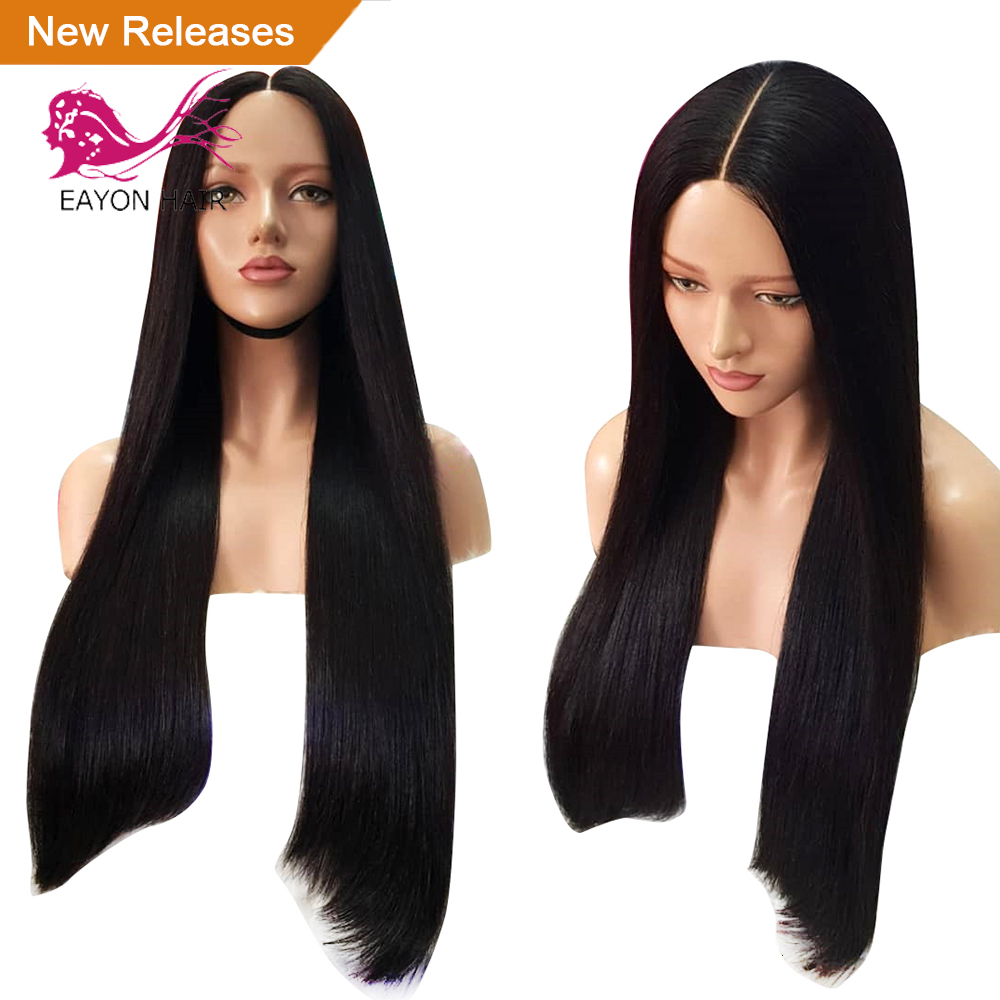 Glueless Long Wig Silky Straight Lace Front Human Hair Wigs for Women 13x6 Deep Middle Part Wigs Remy With Baby Hair Brazilian