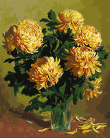Chrysanthem Painting By Numbers No Frame Picture Wall Art Home Decor For Living Room Painting On