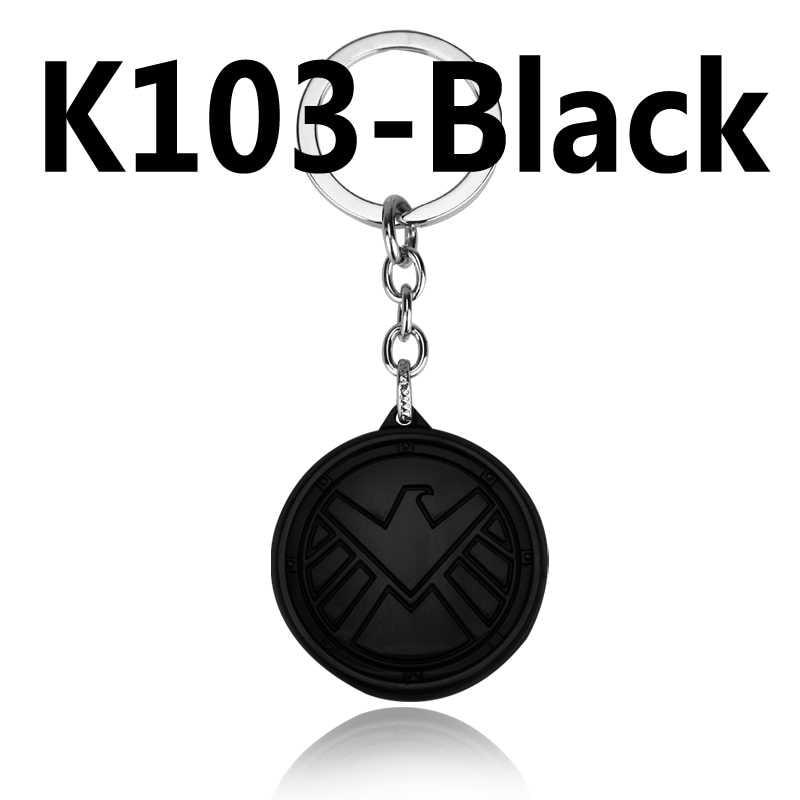 Film Marvel Agents du S.H.I.E.L.D. Logo Antique Bronze 5cm porte-clés en métal nouveauté bijoux pendentif porte-clés cadeau