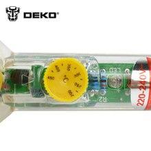 DEKOPRO 220V 60W Adjustable Temperature Electric Soldering Iron Welding Solder Station Heat Pencil EU Plug