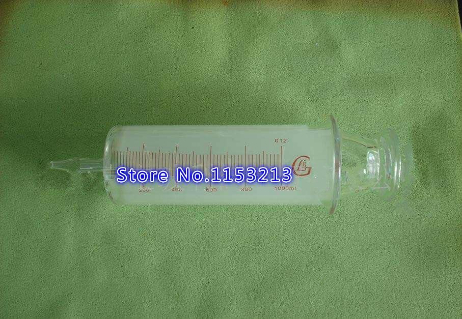 150 ml/200 ml/250 ml/300 ml/500 ml/1000 ml Toutes Les Seringues En Verre gros saucisson dispositif Verre échantillon extracteur Verre Injecteur gros calibre